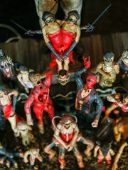 The Congress of Freaks diorama was made by Dante Wilderman