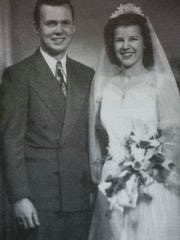 Leon and Florence on their wedding day. Taken from Leon's memoir Zig Zag Pass: Love and War, A Memoir.