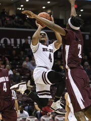 Missouri State's Dequon Miller takes a shot against