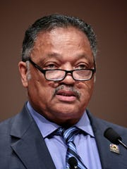 Reverend Jesse Jackson, speaks during a daylong celebration
