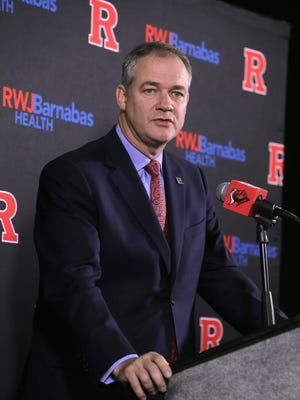 Rutgers University Head Men's Basketball Coach Steve Pikiell speaks during Rutgers men's basketball media day at the RAC at Rutgers University in Piscataway, NJ Tuesday, November 1, 2016.