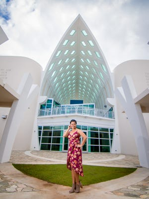 Billionna Reyes, photographed at the Guam Museum on Jan. 17, 2017. Reyes is just starting her acting career in Texas, and dreams of the big screen.