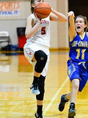 Katie Blacker scored 14 points in Clinton Prairie's win over Western on Tuesday.