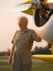 Branson tourism pioneer Mark Trimble with his  WACO