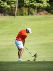 Clemson freshman Doc Redman hits a shot during the