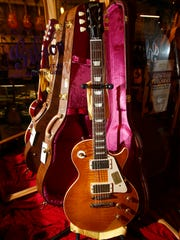 A Gibson Custom Shop 1959 Les Paul Reissue in Lemon Burst ($6499) at Russo Music in Asbury Park Friday, March 24, 2017.