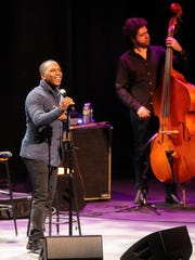 Leslie Odom Jr. performs for guests at Hancher Auditorium
