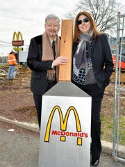 McDonald's Owner Operator Tony Marinello and Alana Marinello at a recent groundbreaking