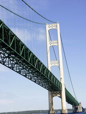The Mackinac Bridge looking north