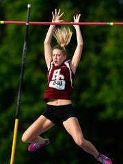 Henderson County's Jaci Bickett clears the bar at 13