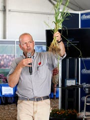 Franciso Ariaga, with the UW-Extension, give a talk in Spanish on soil health during Farm Technology Days on July 12.