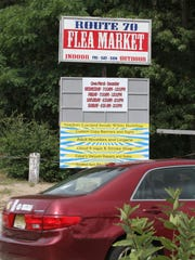 The sign at the main entrance to the Lakewood Flea