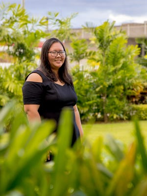 Portrait of filmmaker CJ Ochoco at the Guam Museum on May 10. Ochoco hopes to help others battling mental illness heal through her work.