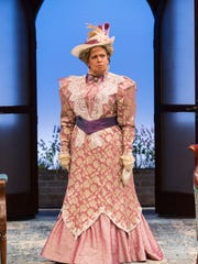 """Randy Danson (Lady Bracknell) in """"The Importance of Being Earnest"""" at Two River Theater."""