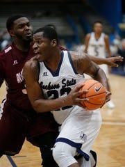 JSU forward Treshawn Bolden (22) grabbed 10 rebounds