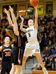 Howell's Alexis Miller goes to the basket in a 38-36