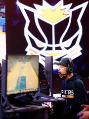 A scene during the NBA 2K League Tip Off Tournament on May 4, 2018, at Brooklyn Studios in Long Island City, New York.