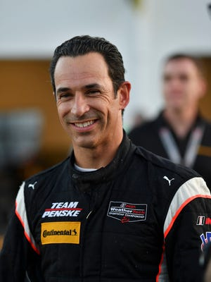 Helio Castroneves at an IMSA WeatherTech SportsCar Championship test in December at Daytona International Speedway.