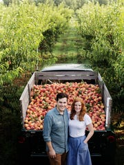 Stephen and Jessica Rose started the Peach Truck in