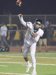 Dinuba's Josh Magana in a Central Section Division