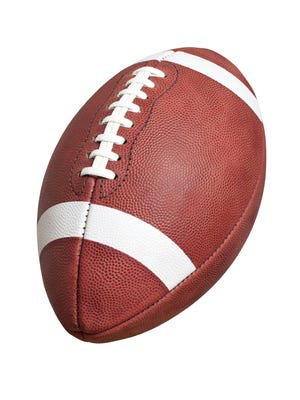 Official college style football isolated on white