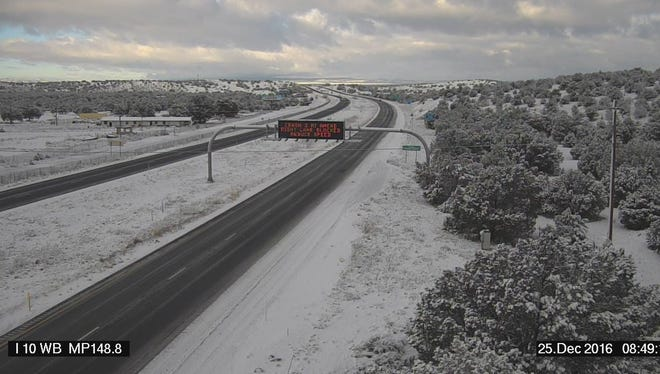 This Arizona Department of Transportation image shows Interstate 40 near Ash Fork.