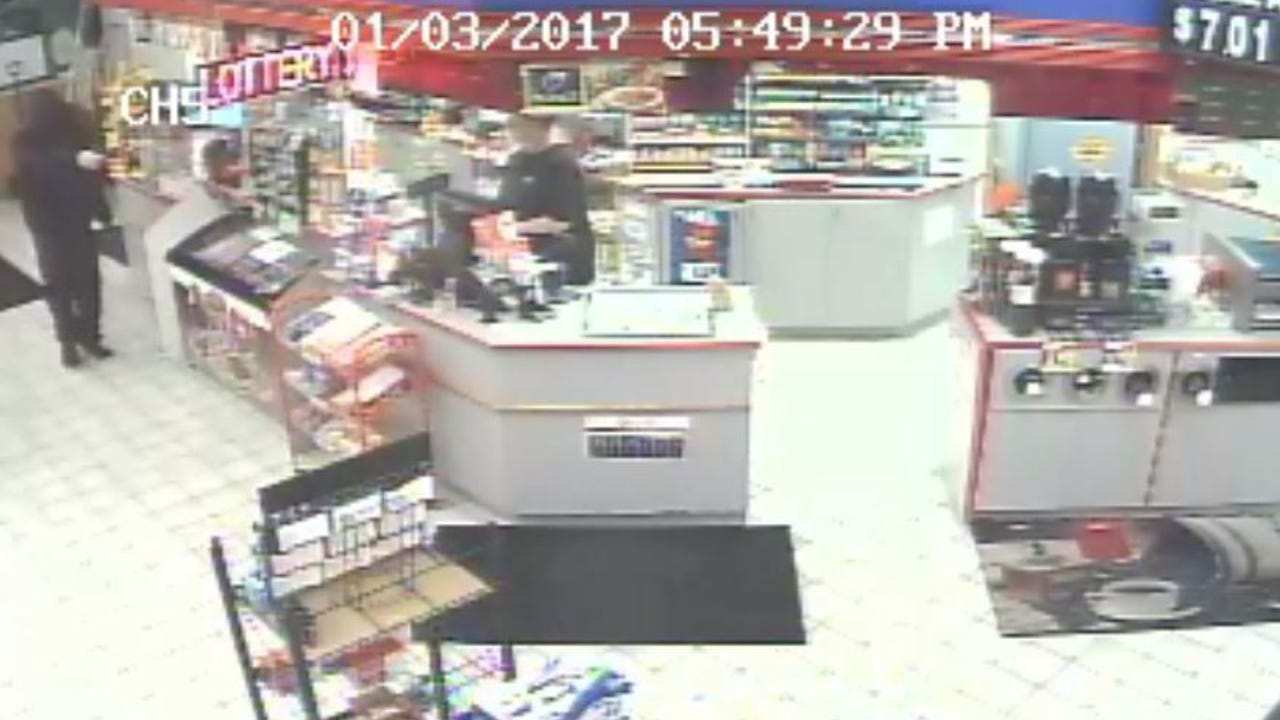 Manitowoc police release video from Tuesday's armed robbery at the Mobil gas station at 3930 Calumet Ave.