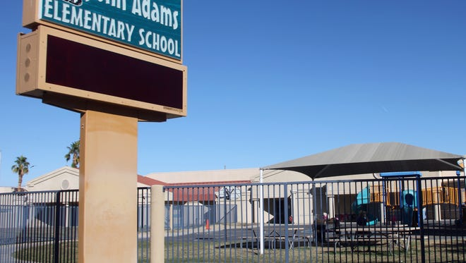 A view of John Adams Elementary School on Thursday, Nov. 19, 2015. Due to its low number of students, Desert Sands Unified School District has announced the school closure by the end of the year.