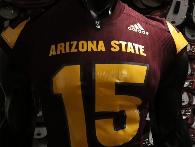 ASU football unveiled new Adidas uniforms on July 30,