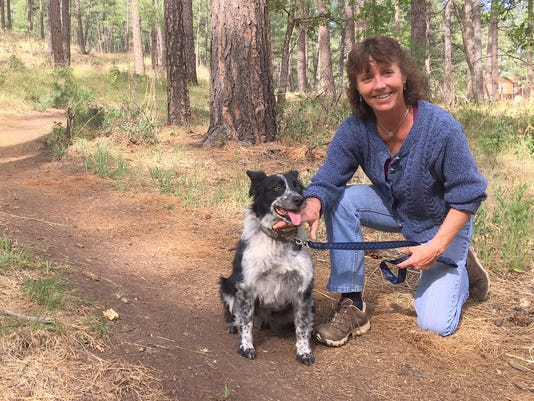 Jodie Canfield/her dog Nipsy