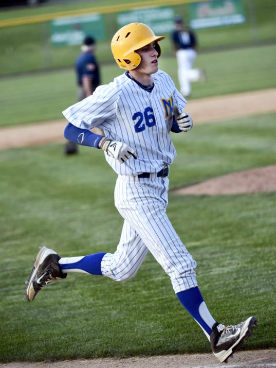 Northern Lebanon's Noah Gingrich trots home during the Vikings' 11-0 win over Elco on Monday at Earl Wenger Memorial Field in Fredericksburg.