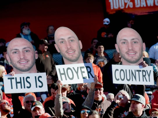 Cleveland Browns fans show their support for Cleveland