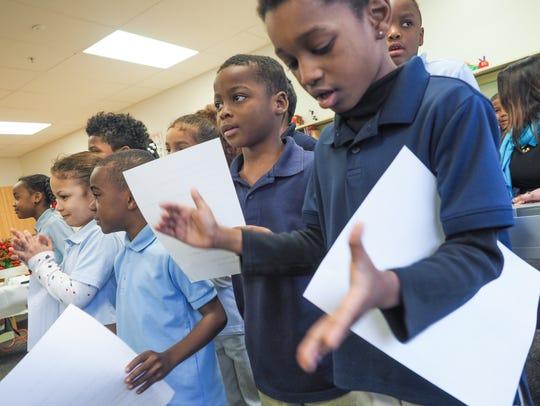 The Shortlidge Singers perform in the Shortlidge Academy