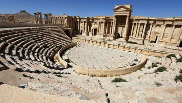 This file photo taken on March 31, 2016 shows the Roman Theatre in the ancient city of Palmyra in central Syria.