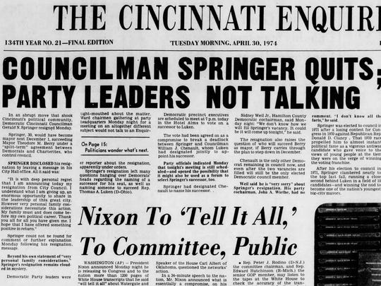 The April 30, 1974 issue of The Enquirer.