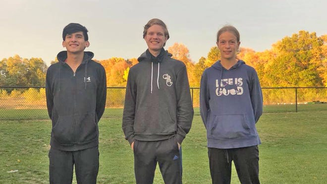 The Tekonsha trio of, from left, Marco Barron, Alex Morgensai, and Dani Van Lente compete in the SCAA Championship Wednesday.