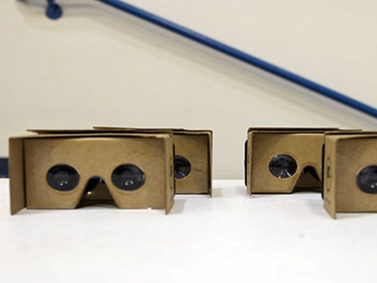 Google Cardboard used by students at a valley charter