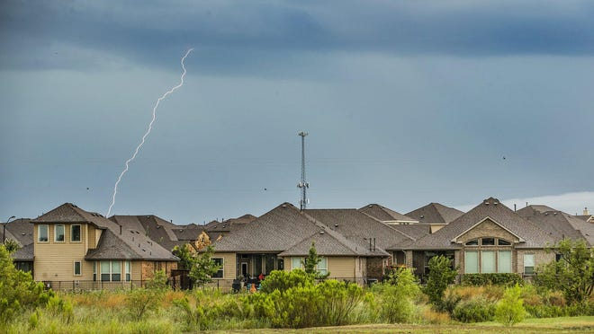 Thunderstorms move through central Texas on Friday,  July 31, 2020.