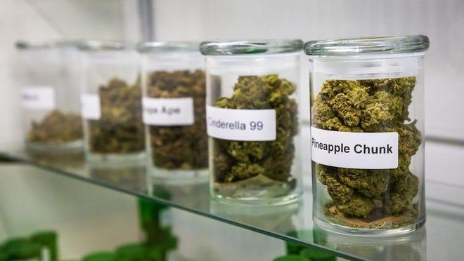 Marijuana product available in Oklahoma City. Oklahoma is one of the states Kansas advocates for medical marijuana are seeking to model.