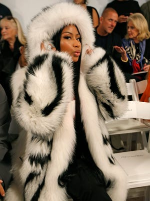 Nicki Minaj stole the show in an oversized fur coat at a New York Fashion Week event last month.