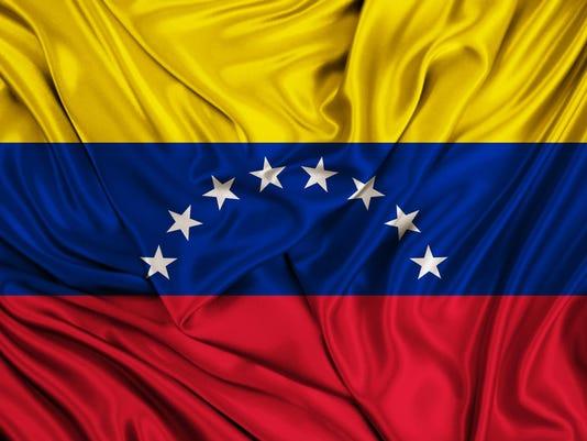 Venezuela flag - silk texture