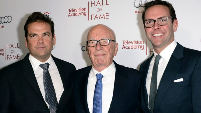 Rupert Murdoch and sons in Beverly Hills, Calif., in March 2014.