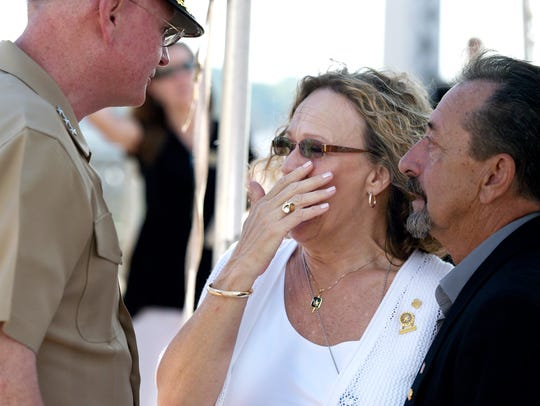 Gold Star family Brenda and Wayne Gearheart of Franklin,