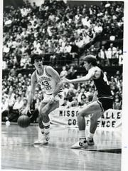 Lou Stefanovic (left) starred at Merrillville High School and Illinois State and was drafted by the Seattle Supersonics prior to his overseas professional career. His son, Sasha, is an incoming Purdue basketball freshman.