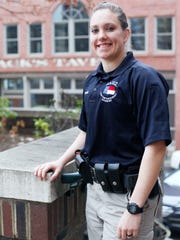 Asheville Police Department's new recruit Morgan Smith January 13, 2016.