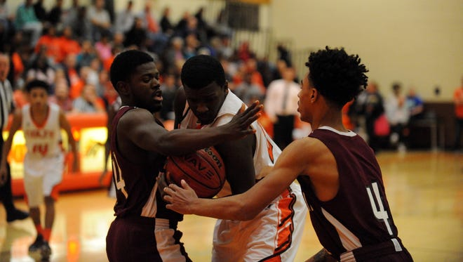 Bridgeton and Cumberland regional face each in an opening round state playoff game Monday, Feb. 29, 2016 in Upper Deerfield.