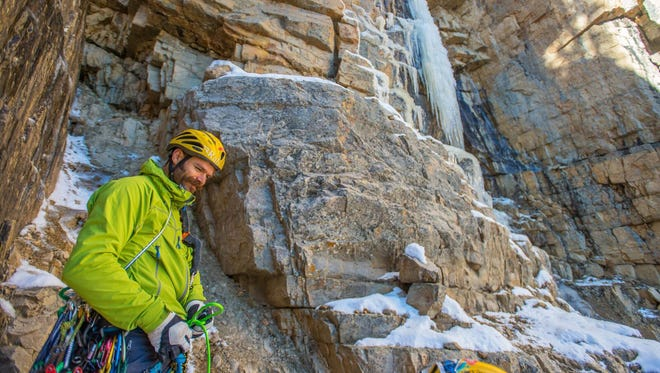 """This undated photo shows climber Scott Adamson. Two well-known Utah climbers are missing in Pakistan where they were attempting to make a treacherous ascent up an icy mountain. Alpinists Kyle Dempster and Adamson were due back at base camp on Friday, Aug. 26, 2016, after they left five days earlier to begin an ascent up the north face of a place called """"Ogre II"""" off the Choktoi Glacier in northern Pakistan, said Jonathan Thesenga of Black Diamond Equipment. Snowy and cloudy conditions are hindering rescue efforts that began Sunday, he said."""