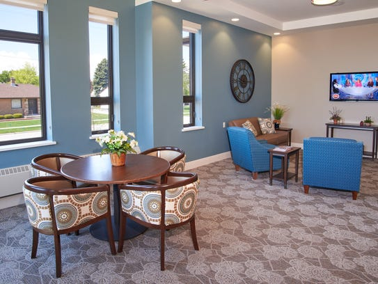 The lounge of a Laurel Grove secure memory care neighborhood