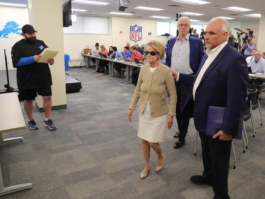 Left to right: Detroit Lions head coach Matt Patricia,