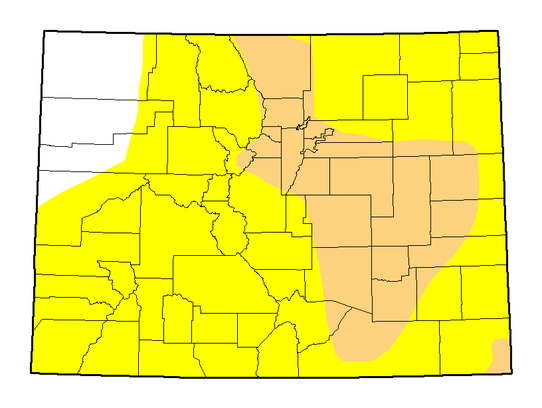 Drought Is Spreading Quickly In Colorado - Us drought map 2016